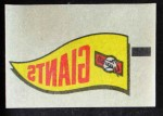 1966 Topps Rub Offs    San Francisco Giants Pennant Front Thumbnail