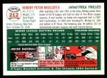 1954 Topps Archives #212  Mickey Micelotta  Back Thumbnail