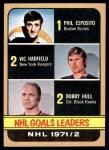 1972 Topps #61   -  Bobby Hull NHL Goal Leaders Front Thumbnail