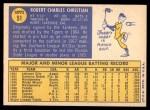 1970 Topps #51  Bob Christian  Back Thumbnail