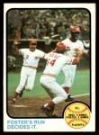 1973 Topps #202   -  George Foster / Pete Rose / Alex Grammas 1972 NL Playoffs - Foster's Run Decides It Front Thumbnail