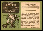 1970 Topps #69  Gary Smith  Back Thumbnail