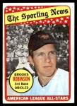 1969 Topps #421   -  Brooks Robinson All-Star Front Thumbnail