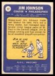 1969 Topps #97  Jim Johnson  Back Thumbnail