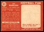 1958 Topps #63  Joe Marconi  Back Thumbnail