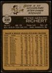 1973 Topps #239  Pete Richert  Back Thumbnail