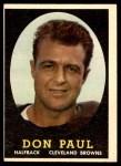 1958 Topps #91  Don Paul  Front Thumbnail