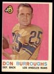 1959 Topps #59  Don Burroughs  Front Thumbnail