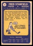 1969 Topps #32  Fred Stanfield  Back Thumbnail
