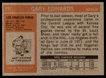 1972 Topps #151  Gary Edwards  Back Thumbnail