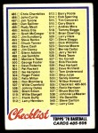 1978 Topps #535   Checklist 5 Front Thumbnail