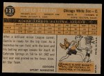 1960 Topps #121   -  Camilo Carreon Rookie Star Back Thumbnail