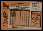 1975 Topps #48  Pit Martin   Back Thumbnail