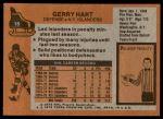 1975 Topps #18  Gerry Hart   Back Thumbnail