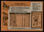 1975 Topps #115  Gary Smith   Back Thumbnail