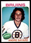 1975 Topps #155  Andre Savard   Front Thumbnail