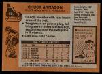 1975 Topps #57  Chuck Arnason   Back Thumbnail