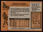 1975 Topps #53  Dennis O'Brien   Back Thumbnail