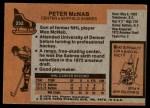 1975 Topps #252  Peter McNab  Back Thumbnail