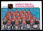 1975 Topps #90   Canadiens Team Checklist Front Thumbnail