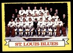 1973 Topps #105   Blues Team Front Thumbnail