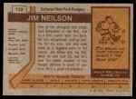1973 Topps #123  Jim Neilson   Back Thumbnail