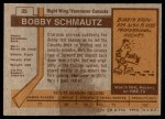 1973 Topps #35  Bobby Schmautz  Back Thumbnail