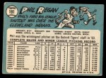 1965 Topps #191  Phil Regan  Back Thumbnail