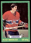 1973 Topps #186  Peter Mahovlich   Front Thumbnail