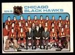 1975 O-Pee-Chee NHL #84   Blackhawks Team Checklist Front Thumbnail