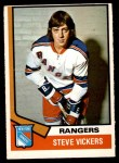 1974 O-Pee-Chee NHL #29  Steve Vickers  Front Thumbnail