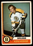 1974 O-Pee-Chee NHL #230  Ken Hodge  Front Thumbnail