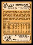 1968 Topps #144  Joe Morgan  Back Thumbnail