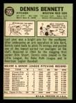 1967 Topps #206  Dennis Bennett  Back Thumbnail