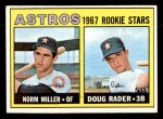 1967 Topps #412   -  Doug Rader / Norm Miller Astros Rookies Front Thumbnail