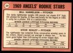 1969 Topps #224   -  Bill Harrelson / Steve Kealey Angels Rookies Back Thumbnail