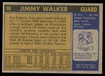 1971 Topps #90  Jimmy Walker   Back Thumbnail