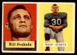 1957 Topps #153  Bill Svoboda  Front Thumbnail