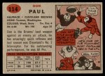 1957 Topps #114  Don Paul  Back Thumbnail
