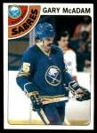 1978 Topps #42  Gary McAdam  Front Thumbnail