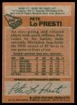 1978 Topps #230  Pete Lopresti  Back Thumbnail