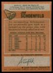 1978 Topps #178  Jim Schoenfeld  Back Thumbnail