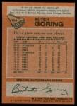 1978 Topps #151  Butch Goring  Back Thumbnail
