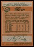 1978 Topps #8  Larry Patey  Back Thumbnail