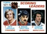1978 Topps #65   -  Guy Lafleur / Brian Trottier / Darryl Sittler League Leaders Front Thumbnail