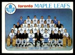 1978 Topps #206   Maple Leafs Team Checklist Front Thumbnail