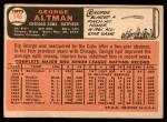 1966 Topps #146  George Altman  Back Thumbnail
