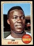 1968 Topps #398  Mudcat Grant  Front Thumbnail