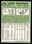 1967 Topps #360  Leon Wagner  Back Thumbnail