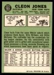 1967 Topps #165  Cleon Jones  Back Thumbnail